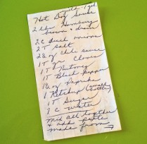 My recipe front