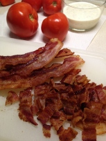 Chop bacon after cooking