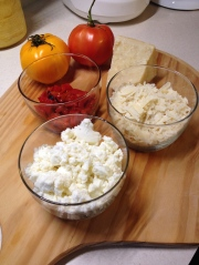 Cheeses and peppers