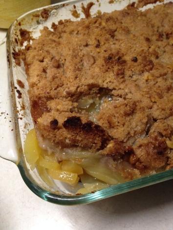 Apple layer below streusel