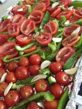 mixed tomatoes and peppers