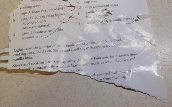 The Rice Pudding Cookbook Incident