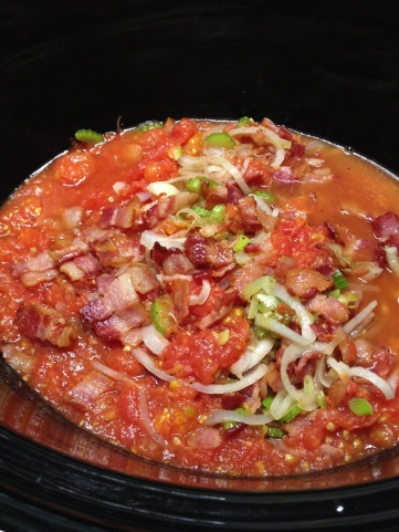 Sauce and bacon