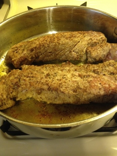 Browning the tenderloins