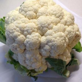 Large head of cauliflower