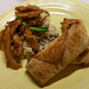 Baked Egg Rolls Served with Mongolian Pheasant