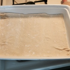 Bottom sheet in buttered dish