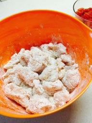 Chicken and cornstarch