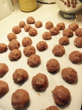My mostly uniform meatballs