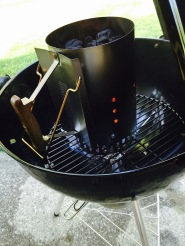 Firing up the charcoal