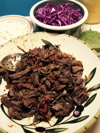 Braised beef and fixings