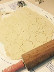 Cutouts for top crust.