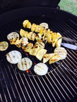 Grill the veggies first