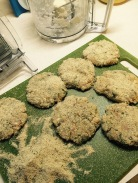 Shape patties and coat in breadcrumbs