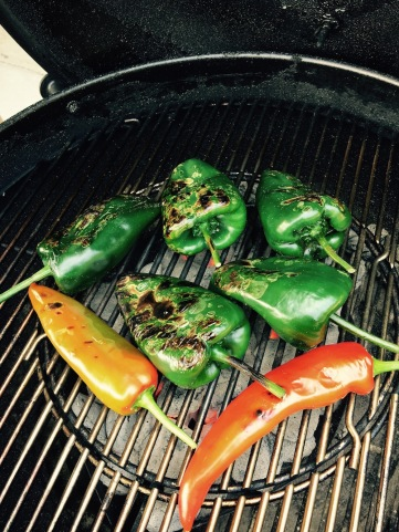 Char the peppers
