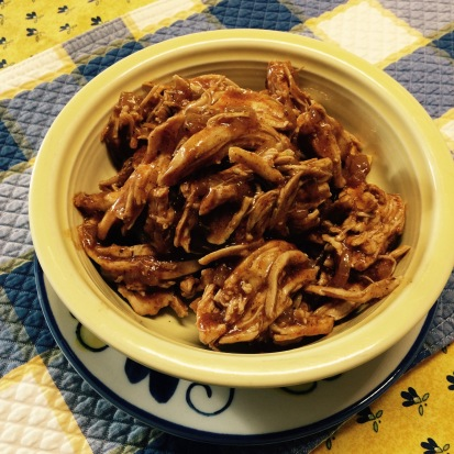 With pulled chicken