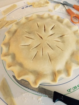 Crimped edges before baking