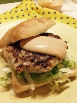 Chicken burger on ciabatta