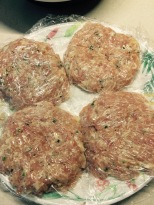 Patties formed in plastic wrap