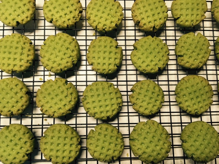 Like little Matcha waffles