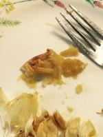 The roasted garlic