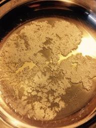 Allow butter to foam