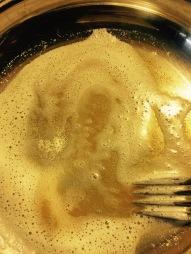 Keep stirring until brown