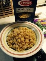 White fiber pasta