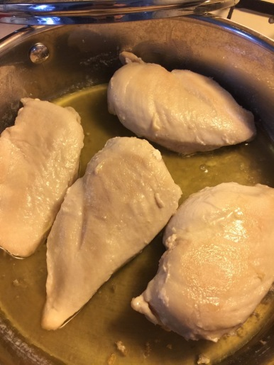 Poached breasts