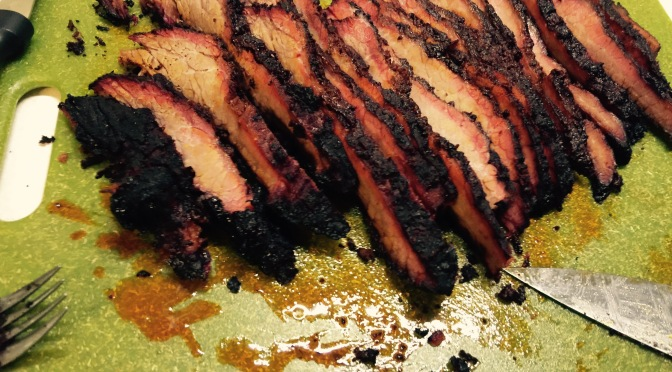 Brisket Point on the Grill