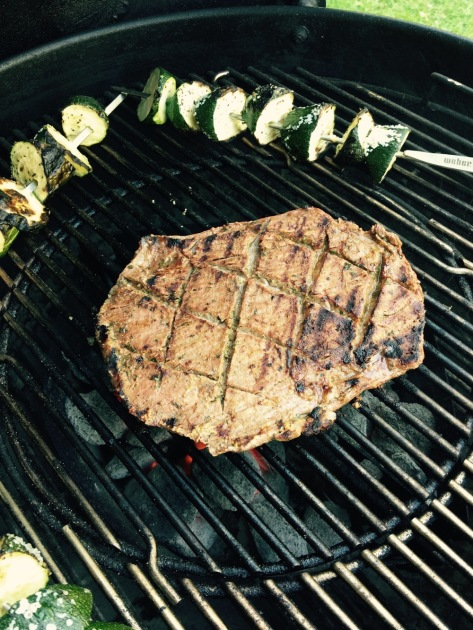Grill 7 minutes a side