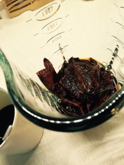 Reconsituted ancho peppers