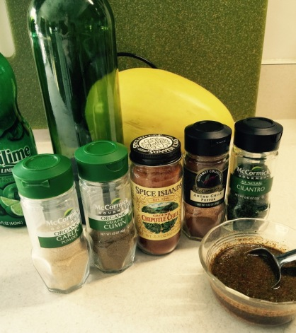 Spices for wet marinade