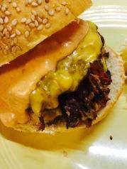 on smashed burgers
