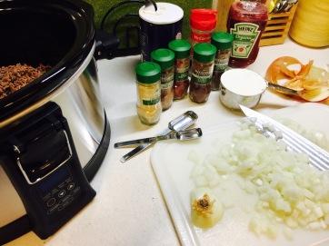 Gathered ingredients