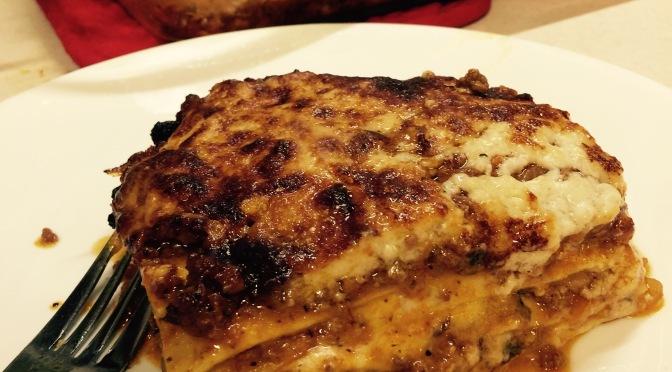 Venison Lasagna Bolognese