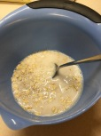 Soaking oats in almond milk