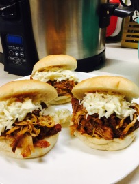 Sandwiches with slaw