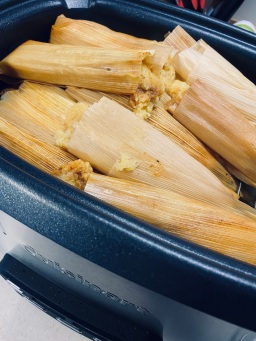 Finished tamales