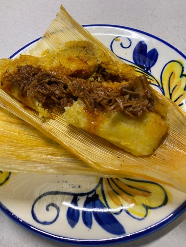 Tamale with extra filling